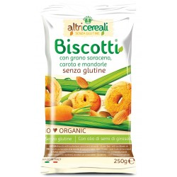 BISCOTTI AL GRANO SARACENO, CAROTA E MANDORLE-senza glutine.
